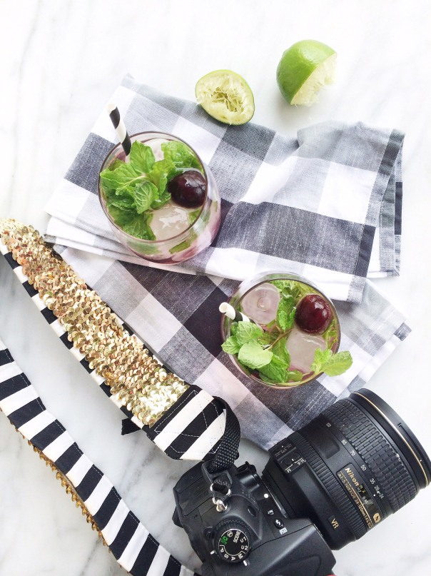 Camera with Drinks